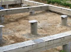 Готовый свайно-ростверковый фундамент