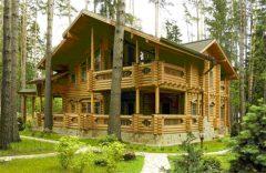 Преимущества домов из бревна