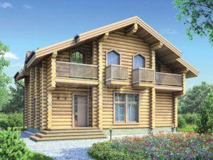 Дом из бревна 130,3м