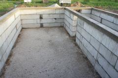 Готовый фундамент из блоков