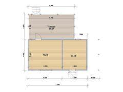 Каркасный дом 7,2х7,5м