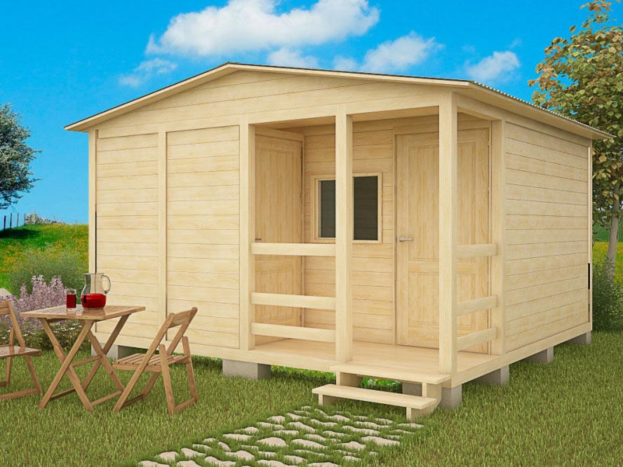 Каркасный садовый домик 4х4м