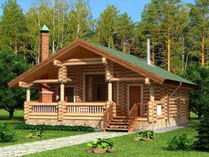 Дом из бревна 74,9м