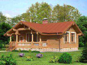 Дом из бревна 82,2м