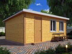 Каркасный садовый домик 6х4м