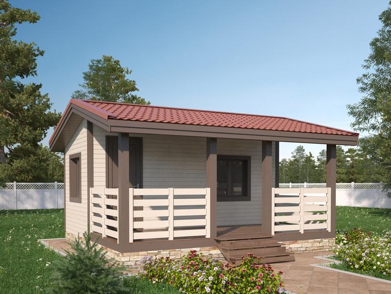 Каркасный садовый домик 5х4,6м