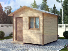 Каркасный садовый домик 3х3м