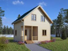 Каркасный садовый домик 6х6м