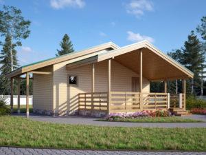 Каркасный садовый домик 7,5х7,2м
