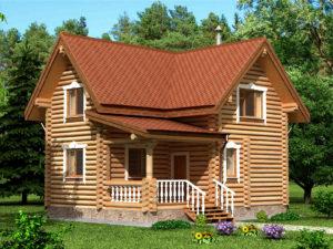 Дом из бревна 92,1м