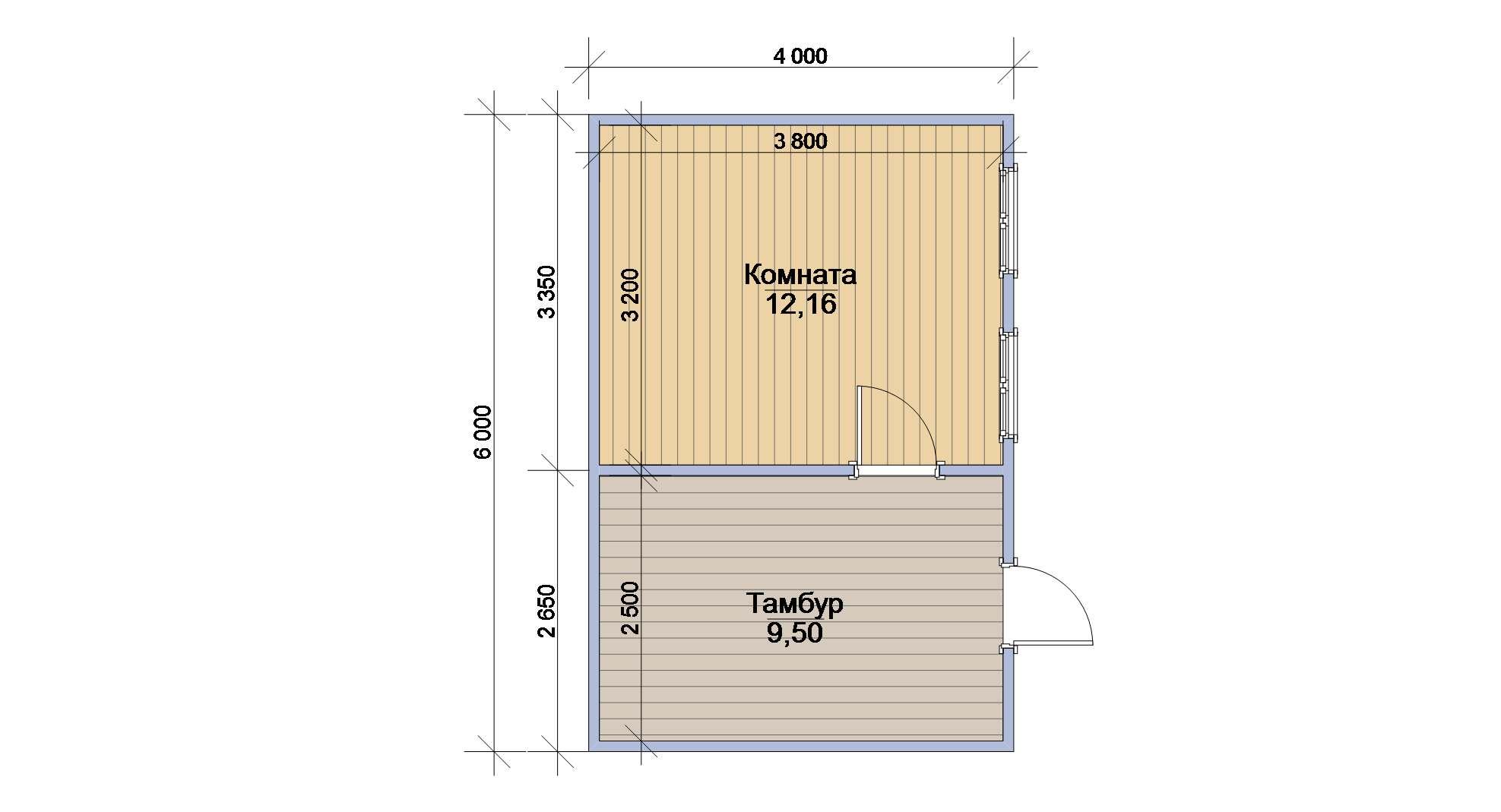 Деревянный сарай с односкатной крышей 50