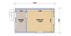 Каркасный дом 3,8х6м