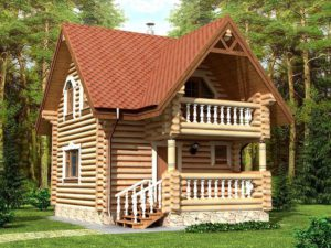 Дом из бревна 56,5м