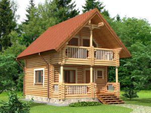 Дом из бревна 65,1м