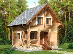Дом из бревна 59,4м