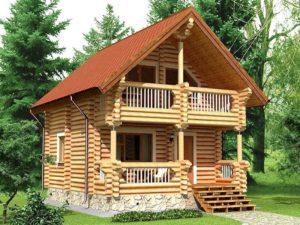Дом из бревна 79,7м