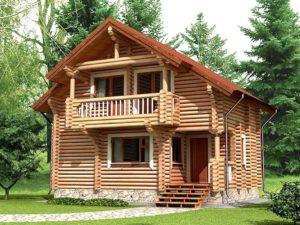 Дом из бревна 72,7м