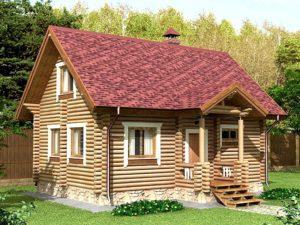 Дом из бревна 66,4м