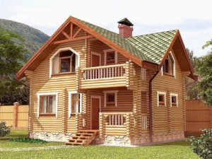 Дом из бревна 97,1м