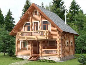 Дом из бревна 97,3м