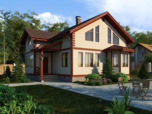 Каркасный дом 162,0м