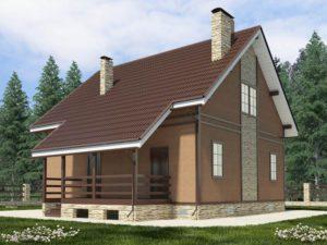 Каркасный дом 162,1м