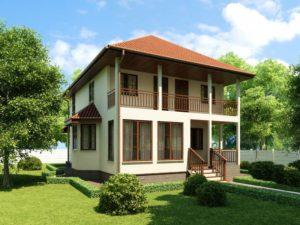 Каркасный дом 165,0м