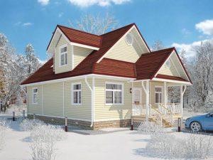 Каркасный дом 167,0м