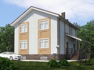 Каркасный дом 168,5м