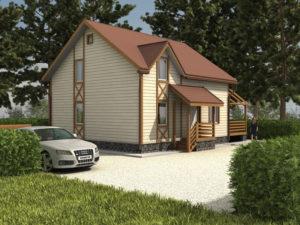 Каркасный дома 173,0м