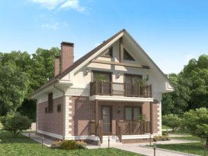 Каркасный дома 179,3м