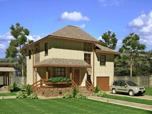 Каркасный дома 181,0м