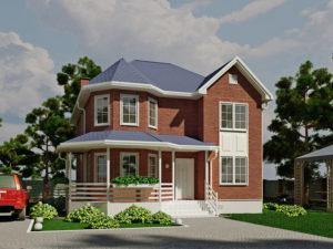 Каркасный дома 182,0м