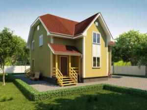 Каркасный дома 184,0м
