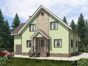 Каркасный дома 190,0м