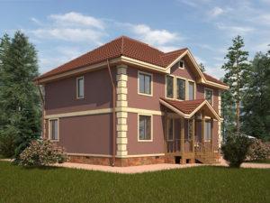 Каркасный дома 190,5м