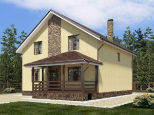 Каркасный дом 199,0м