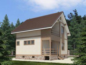 Каркасный дом 95,0м