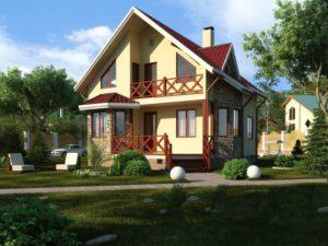 Каркасный дом 123,0м