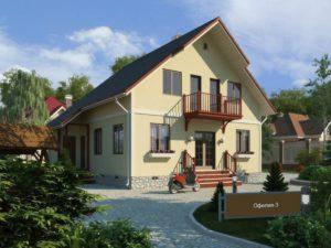 Каркасный дом 141,0м