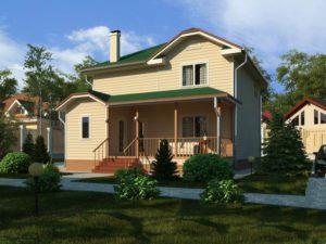 Каркасный дом 144,5м