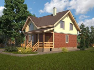 Каркасный дом 150,5м