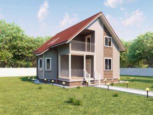 Каркасный дом 152,5м