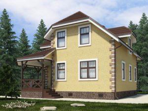 Каркасный дом 156,1м