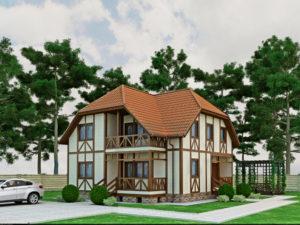 Каркасный дома 168,7м