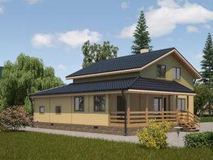 Каркасный дома 196,0м