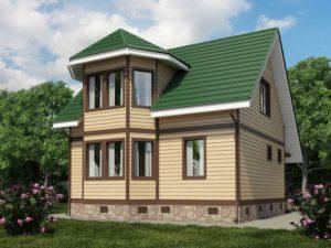 Каркасный дом 104,0м