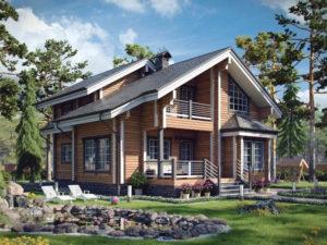 Дом из бруса 172м