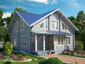 Дом из бруса 218м