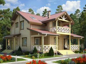 Дом из бруса 257м